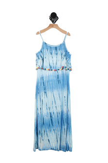 PomPom Trim Maxi Tank Dress (Big Kid)