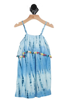Off the Shoulder PomPom Tank Dress (Little Kid)