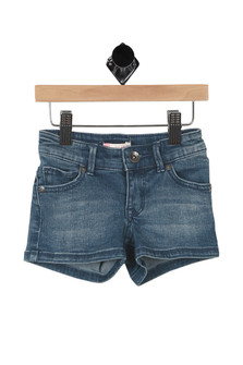 Shine Like The Sun Denim Shorts (Big Kid)