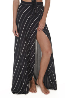Wrap It Up Striped Maxi Skirt