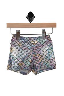 Mermaid Scale Print Shorts (Toddler/Little Kid)