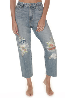 Debbie Embroidered Crop