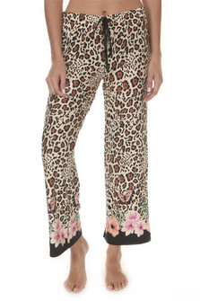 Leopard Cropped PJ Pants