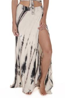 Tie Dye Faux Wrap Skirt
