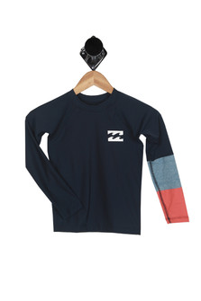 Tri-Color L/S Rashguard (Big Kid)