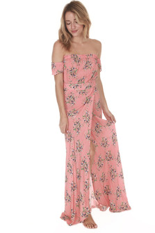 Coral Bella Maxi Dress