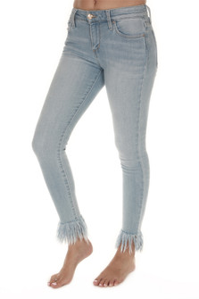 The Icon Cropped Unhemmed Jean