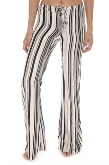 Electric Print Flare Lace Up Pant