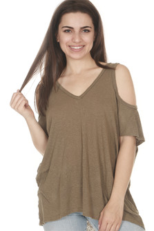 Cold Shoulder Lightweight Tee