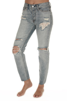Lacey Stilt Light Denim
