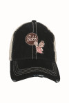 Black Bob's Big Boy Trucker Hat Adjustable Back Bob's Big Boy Logo at Front