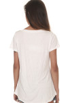 Be Filled w/ The Spirit Tee In White v-neckline with short sleeves looser fit