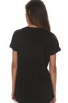 Be Filled w/ The Spirit Tee In Black v-neckline with short sleeves looser fit
