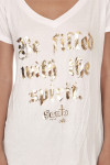 """""""Be filled with the spirit - Santo"""" gold graphic"""