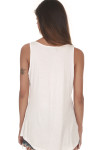 Be Filled W/ The Spirit Tank in White looser fit with tank sleeves back is solid