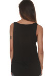 The Rosary Tank looser fit back is solid black