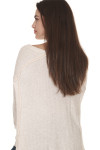 back of Laguna Thermal Long Sleeve top in sand color. over sized  fit