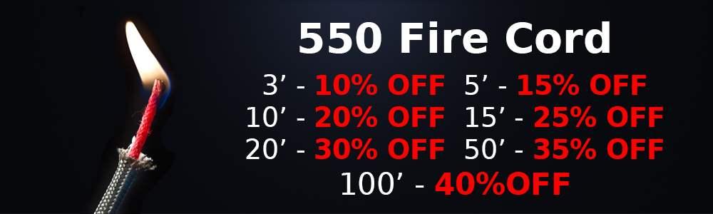 550 Fire Cord Sale