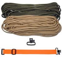 "DIY 43"" 550 Paracord Strap - Olive Drab & Tan w/ Orange Webbing"