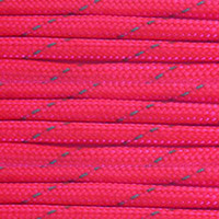 Reflective Neon Pink 550 Paracord (7-Strand) - Spools