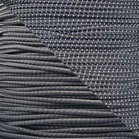 "Reflective Charcoal Gray 1/8"" Shock Cord - Spools"