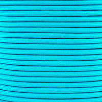 Neon Turquoise Para-Max Paracord 1000 lb Tensile Strength