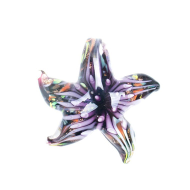 Glass Starfish Pendant - Coralline