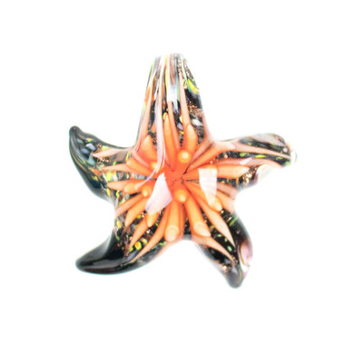Glass Starfish Pendant - Sun Coral