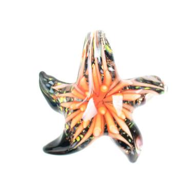 Glass Starfish Pendant - Sun Coral