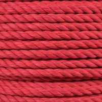 3-Strand Twisted Cotton 1/2 in Rope - Red