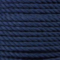 3-Strand Twisted Cotton 1/2 in Rope - Navy