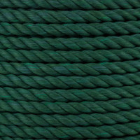3-Strand Twisted Cotton 1/2 in Rope - Green
