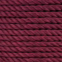3-Strand Twisted Cotton 1/2 in Rope - Burgundy