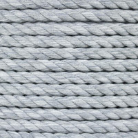 3-Strand Twisted Cotton 1/2 in Rope - Grey