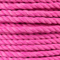 3-Strand Twisted Cotton 1/2 in Rope - Hot Pink