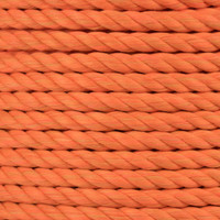 3-Strand Twisted Cotton 1/2 in Rope - Neon Orange