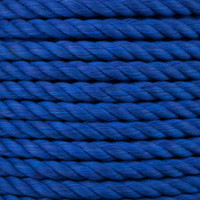 3-Strand Twisted Cotton 1/2 in Rope - Royal Blue