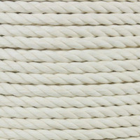 3-Strand Twisted Cotton 1/2 in Rope - White