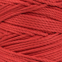 3-Strand Twisted Cotton 1/4 in Rope - Red