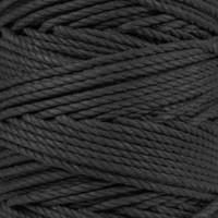 3-Strand Twisted Cotton 1/4 in Rope - Black