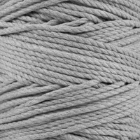 3-Strand Twisted Cotton 1/4 in Rope - Grey
