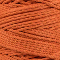 3-Strand Twisted Cotton 1/4 in Rope - Orange