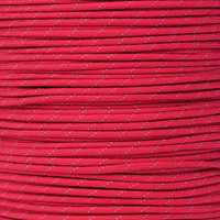 Imperial Red 550 Paracord with Reflective Tracers