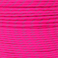 Neon Pink 550 Paracord with Reflective Tracers