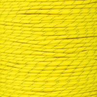 Neon Yellow 550 Paracord with Reflective Tracers