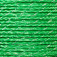 Neon Green 550 Paracord with Glow in the Dark Tracers
