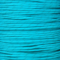 Neon Turquoise 550 Paracord with Reflective Tracers