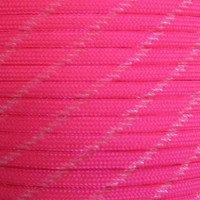 Neon Pink 550 Paracord with Glow in the Dark Tracers