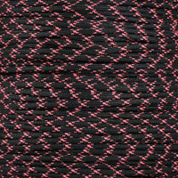 Black w/ Pink X 550  7-Strand Commercial Grade Paracord