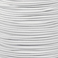 "White Bungee Shock Stretch Cord 1/8"" Diameter"